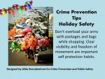 Holiday Safety Tips 2